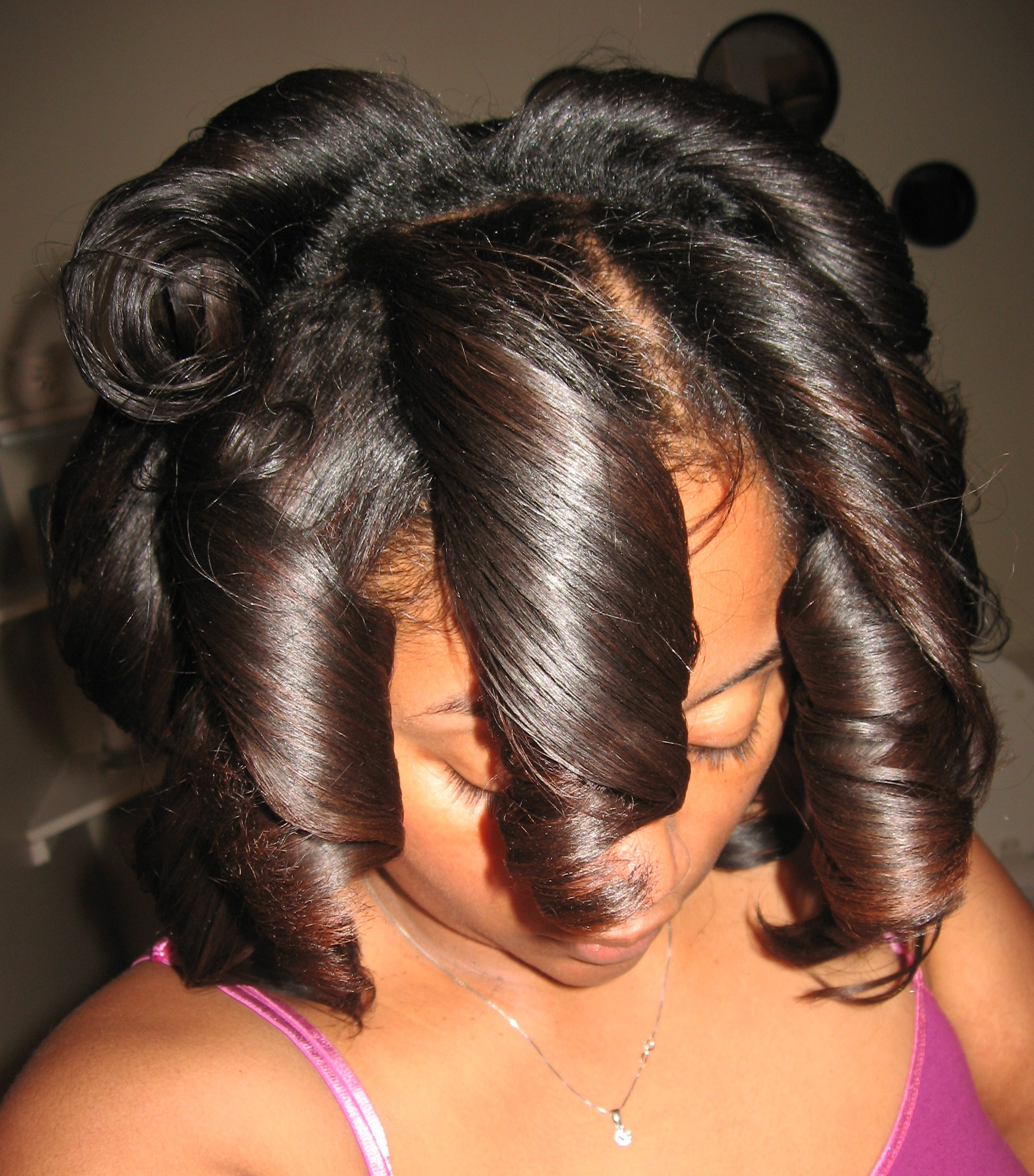 Roller Wrap Curly Styles Short Hairstyle 2013