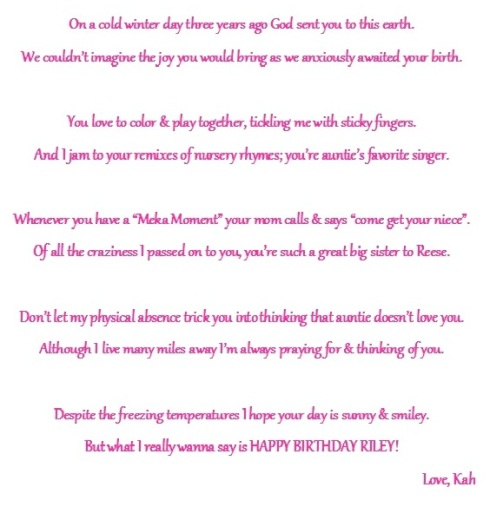 riley's birthday poem