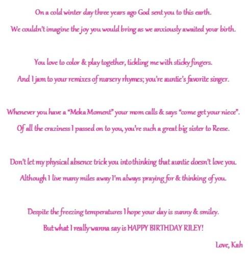 riley's birthday poem
